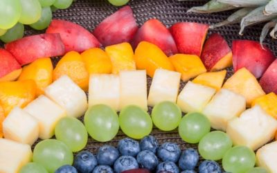 Eating the rainbow! Healthy eating includes plenty of colours.